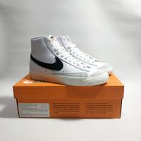 Sepatu Nike Blazer Mid 77 Vintage White Black Original Resmi BNIB