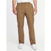 Celana Old Navy Straight fit Stretch Cargo Pants Brown Original