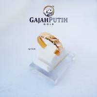 1gr Cincin Model Bangkok Batik Emas Asli KodeO1101020