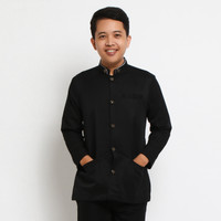 Baju Muslim Anak Baju Koko Jasko Jas Koko Anak Hitam Polos JAT 012
