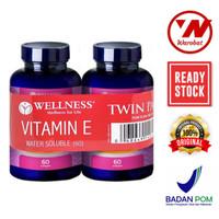 Wellness Vitamin E 400iu / 400 IU Water Soluble 60 Softgels Bander 1+1