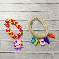 Charm DIY LoomBands mainan edukasi anak karet Rainbow loom