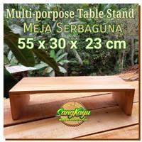 Meja Wooden multipurpose rack display 55x30x23 cm table craft rak kayu