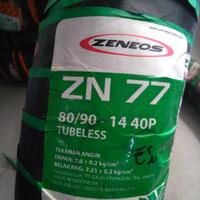 Ban depan beat vario / belakang mio Zeneos ZN 77 80/90-14 (Tubeless )