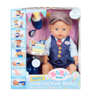 Baby Born Interactive Baby Boy Doll Party Theme - Blue Eyes