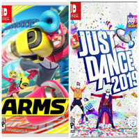 game digital nintendo switch ARMS + just dance 2019