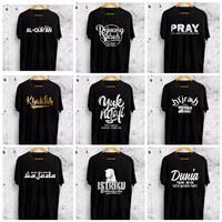 Baju kaos pria dakwah islami READY 9 motif L/XL/XXL