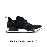 Sepatu Adidas NMD R1 Primeknit Japan Black White High Premium
