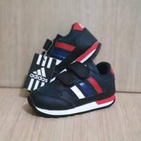 Sepatu Anak Adidas Neo Kids Black Red Import Size 26-35 Free Box