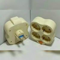T multi isi 4 T listrik 4 in 1 steker T isi 4 stop kontak cabang 4 VDR