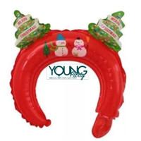 Balon Bando Santa merah/Balon Foil headband natal
