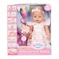 Baby Born Interactive Baby Doll Party Theme - Blue Eyes