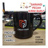 souvenir mug hitam custom murah satuan