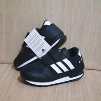 Sepatu Anak Sekolah Adidas Neo Hitam Import Size 26-35 Free Box