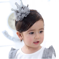 Bandana anak bayi model mahkota/bando elastis