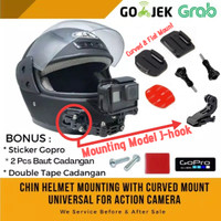 MOUNTING HELM CHIN MOUNT HELMET GOPRO YI ACTION CAM CURVED MOUNT MIJIA