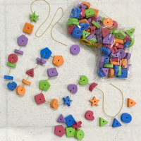Paket Meronce Shapes Bentuk Geometri - Mainan edukasi anak Montessori