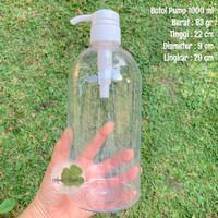 Botol Pump 1000 ml botol pompa 1 liter sabun antiseptic gel