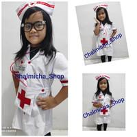 Kostum Baju Seragam Anak Profesi Dokter Suster Perawat Bidan New