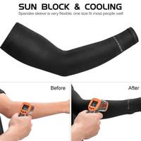 Rockbros Original Arm Sleeve Manset Tangan Sepeda Anti UV - BLACK
