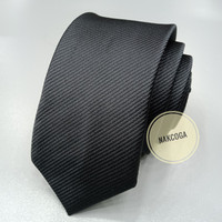 dasi hitam polos slim dasi kantor pria tie panjang