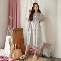 GREET Piyama Wanita/Organic Silk Premium/T-067 (DK - Free size)
