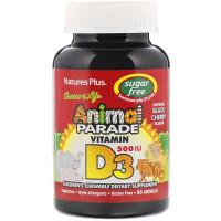 Nature's Plus, Source of Life, Animal Parade, Vitamin D3, Sugar Free,