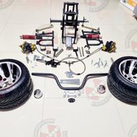 acessories motor listrik ATV bingkai suspensi dengan Ban 235 30-10 - M