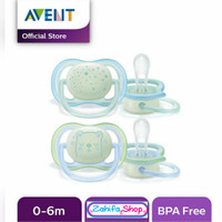 Empeng Bayi Avent Night Time Orthodontic Pacifier 0-6m ISI 1