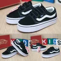 Sneakers sepatu vans oldskol anak laki/perempuan import quality