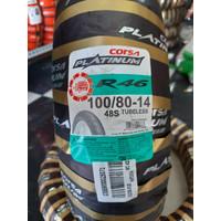 Ban luar corsa platinum R46 uk 100 / 80 -14 TUBLESS for matic