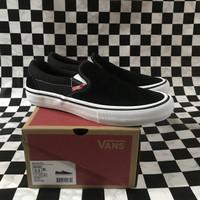 Vans Slip On Pro Black White Original - Slip On Pro