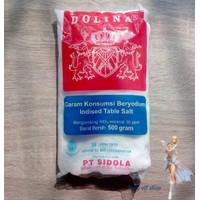 Garam Konsumsi Beryodium Dolina 500gr Meja iodised table salt halal