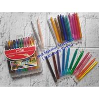 Crayon / Krayon Putar Mini 24 warna TiTi TI-CP-24 Mini