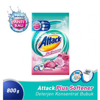 ATTACK Plus Softener Detergent Bubuk 800gr harga grosir murah