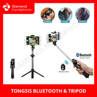 Tongsis Bluetooth Selfie Stick Tripod Multifungsi Tomsis