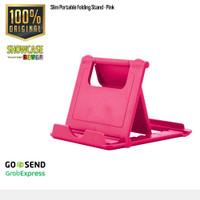 Portable Folding Stand Dudukan Holder Dock HandPhone iPad Tablet HP - Pink