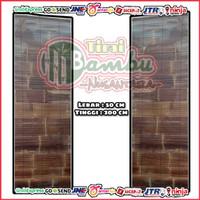Tirai Bambu kulit Hitam size L-50cm x T-200cm sudah di vernis