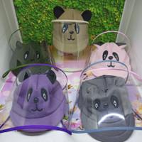 Topi Faceshield Bayi Baby Newborn / Faceshield Anak Panda