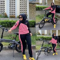 setelan olahraga muslim sepeda/setelan baju olahraga dewasa wanita