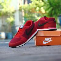 ( Jumbo ) Sepatu Sneakers Nike Waffle Trainer Merah Hitam Casual Pria