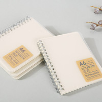 BUKU TULIS A5 A6 B5 DOTTED GRID Clear Cover Spiral Notebook