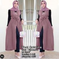 Catalina vest(XL,XXL)6 warna, Baju atasan dan luaran fashion muslim