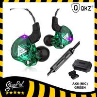 QKZ AK6 (MIC) Original Headset Earphone Bass - Hijau