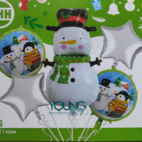 Balon Foil Set Natal/Balon dekorasi Natal