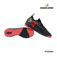 Sepatu futsal specs swervo thunder bolt black dark