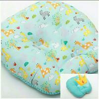 set bantal sofa bayi dan bantal penyangga botol susu bayi motif keropi