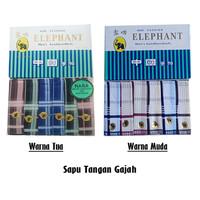 [6pt] Sapu Tangan pria | Sapu Tangan Gajah/Elephant | Warna Tua Muda