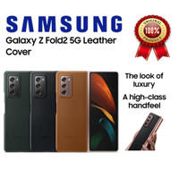 Original Samsung Galaxy Z Fold2 Fold 2 Leather Cover - Brown