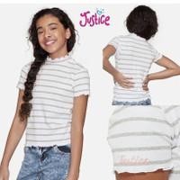Kaos anak perempuan remaja baju wanita dewasa 20 tahun plus justice